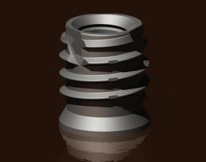 self tapping insert for plastics metals and composites