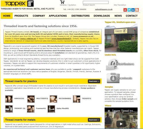 Tappex Website Snip